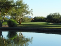 Fifth Hole guarded by a lake